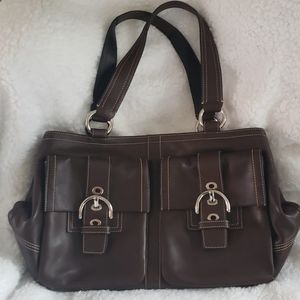 NWOT Coach Leather Satchel